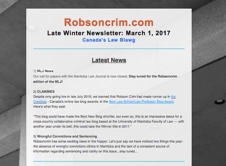 Late Winter Newsletter