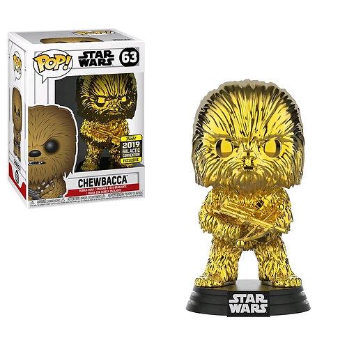 Star Wars - Chewbacca Goldd Chrome SW19 US Exclusive Pop! Vinyl