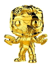Marvel Studios 10th Anniversary - Star-Lord Gold Chrome US Exclusive Pop! Vinyl