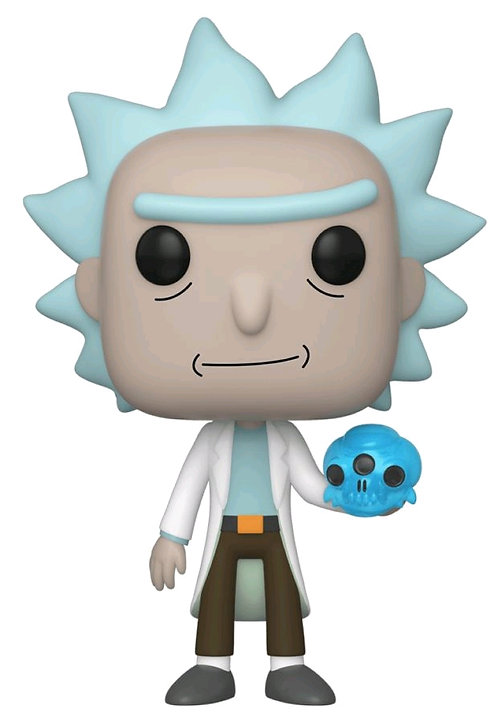 Rick and Morty - Rick with Crystal Skull Pop! Vinyl
