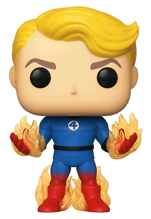 Fantastic Four - Human Torch with Flames US Exclusive Pop! Vinyl