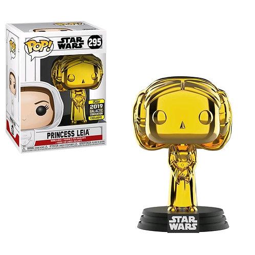 Star Wars - Princess Leia Gold Chrome SW19 US Exclusive Pop! Vinyl