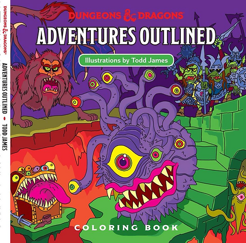 D&D Adventures Outlined 5th Edition Coloring Book Monster Manual 1