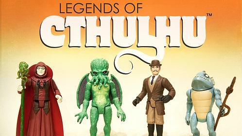 "Warpo Cthulhu Action Figures 3 3/4"" Set of 4"