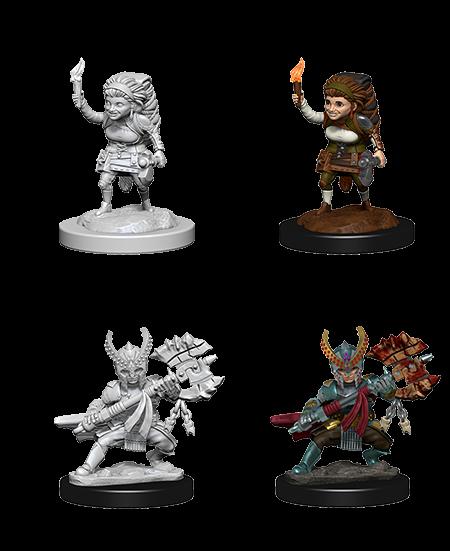 D&D Nolzurs Marvelous Unpainted Miniatures Female Halfling Fighter