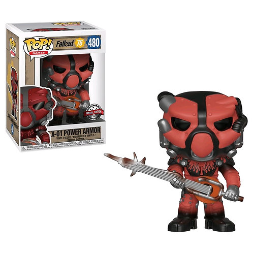 Fallout 76 - X-01 Power Armor (Red) US Exclusive Pop! Vinyl