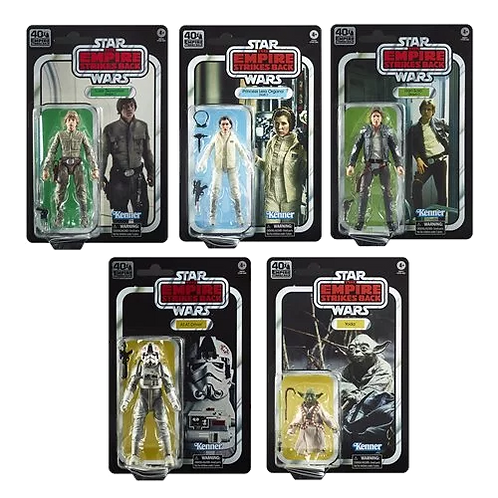 STAR WARS THE BLACK SERIES EMPIRE STRIKES BACK 40TH ANNIVERSARY WAVE 1 SET OF 5