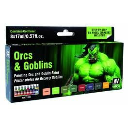 Vallejo Game Colour Orcs & Goblins 8 Colour Set Green Package