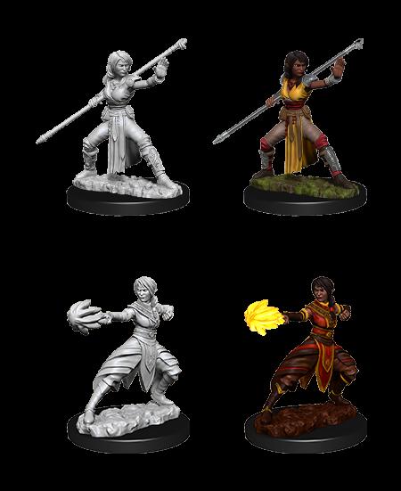D&D Nolzurs Marvelous Unpainted Miniatures Female Half-Elf Monk