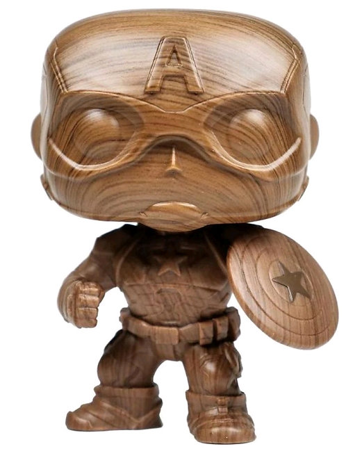 Captain America - Captain America Wood Deco US Exclusive Pop! Vinyl