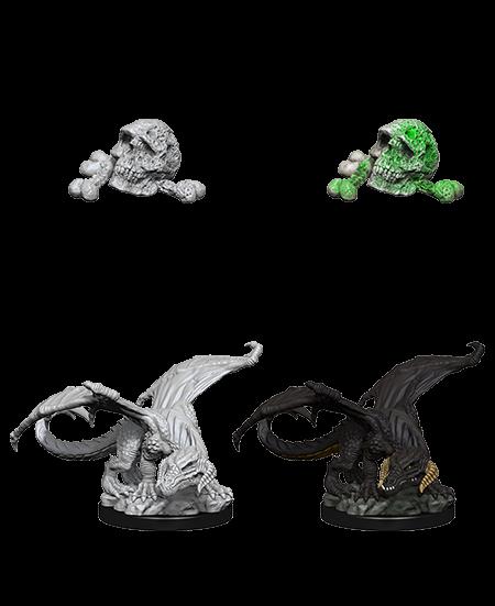 D&D Nolzurs Marvelous Unpainted Miniatures Black Dragon Wyrmling