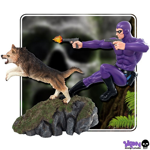 The Phantom - Phantom and Devil Purple Suit Statue