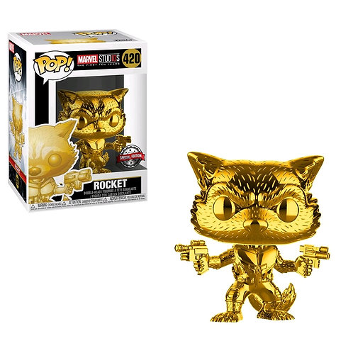 Marvel Studios - 10th Anniversary Rocket Raccoon Gold Chrome US Exclusive Pop! V