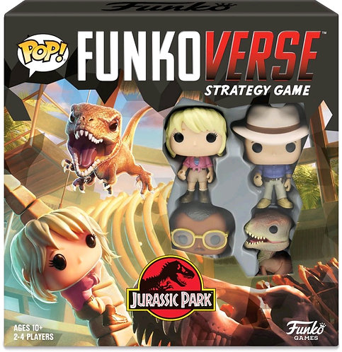 Funkoverse - Jurassic Park 100 4-pack Strategy Board Game