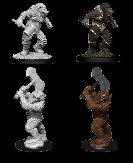 D&D Nolzurs Marvelous Unpainted Miniatures Wereboar & Werebear