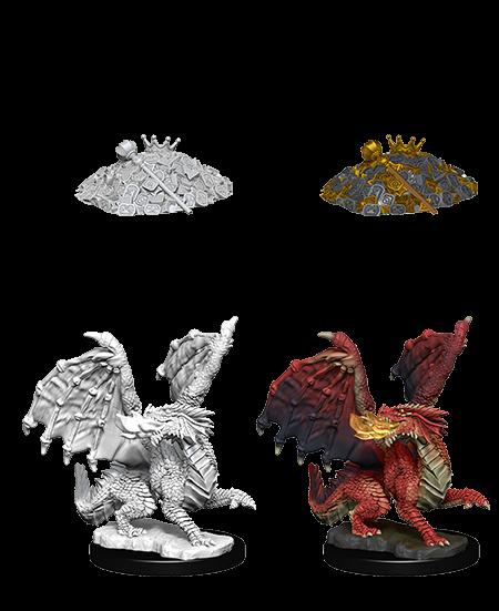 D&D Nolzurs Marvelous Unpainted Miniatures Red Dragon Wyrmling