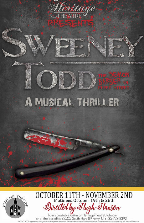 Sweeney Todd Poster Original and Officia