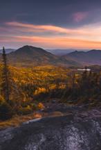 Mt. Redfield Slide Overlooking Allen at Sunset