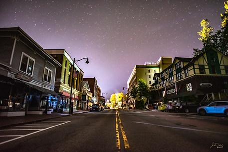 Stars over Main Street Lake Palcid