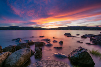 Sunset over Schroon Lake, New York