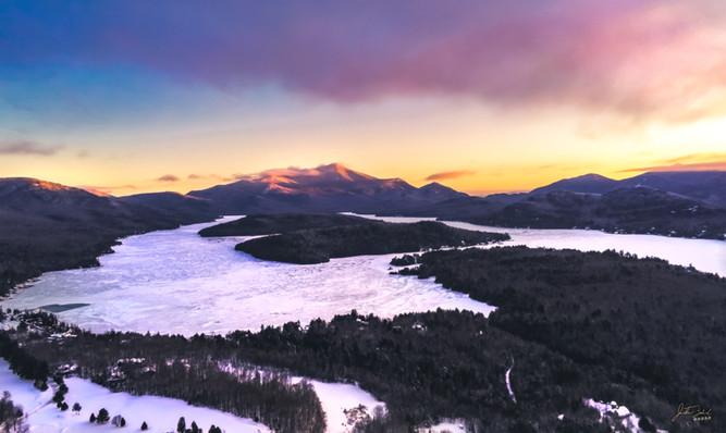 Lake Placid and Whiteface at Sunrise