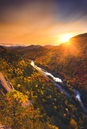 Sunset over Wilmington Notch