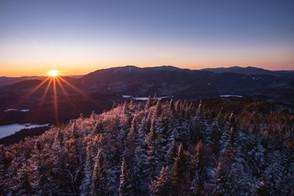 Mt. Adams Winter Evening