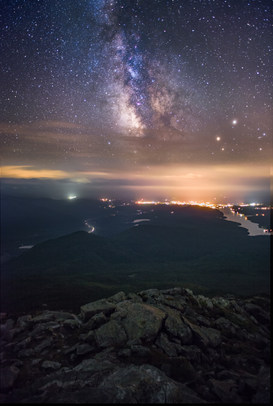 Night from Summit of Whiteface Mt.