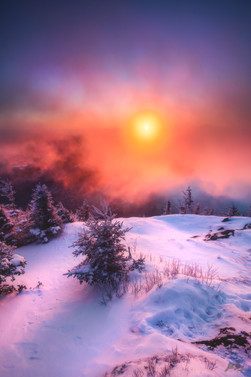 Winter Sunrise from Cascade