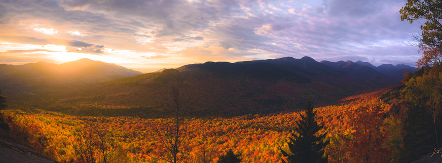 Sunrise from First Brother- 10 X 30