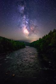 Milky Way over the Sacandaga River