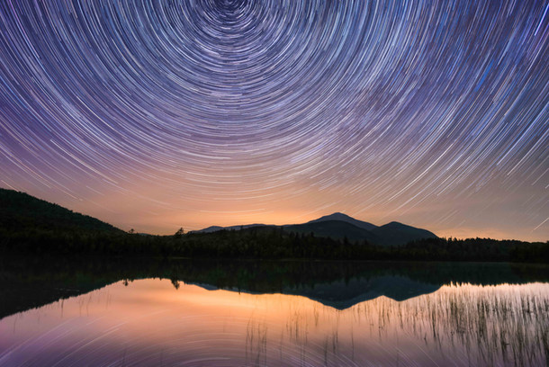 Stars Rotating Connery Pond