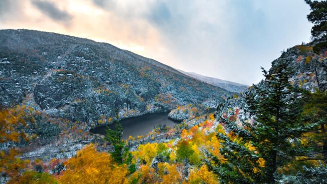 Fall/Snow & Chapel Pond, New York