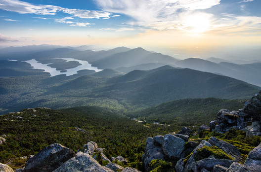 Lake Placid From Whiteface Mt. Summit