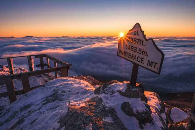 Whiteface Inversion Sunset