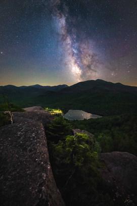 Milky Way over Heart Lake