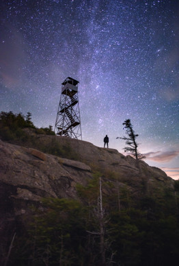 Stars and Fire Tower from Hurricane Mt.