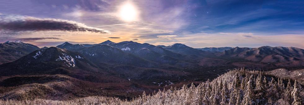 High Peaks from Mt. Adams Under Moonlight 10 X 30