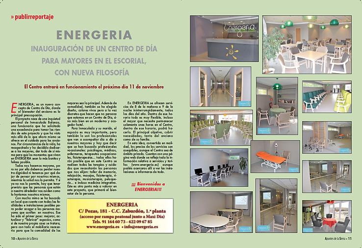 ENERGERIA escorial centro día mayores residencia alzheimer ictus demencia Guadarrama, Villalba, Los Arroyos, Galapagar, Colmenarejo, Peralejo, Zarzalejo, Valdemorillo,  Robledo