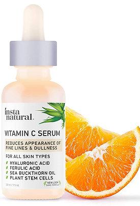 Natural Vitamin C Serum with Hyaluronic Acid&Vit E - Natural & Organic Anti Wr