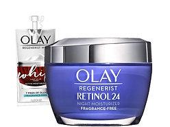 Olay Regenerist Retinol Moisturizer, Retinol 24 Night Face Cream, 1.7oz + Whip..