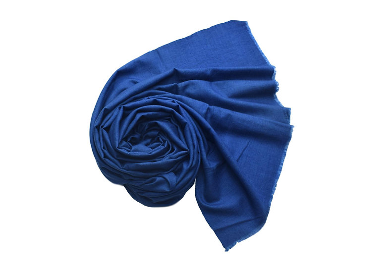 100% Handwoven Cashmere Pashmina from the Himalayas -Blue