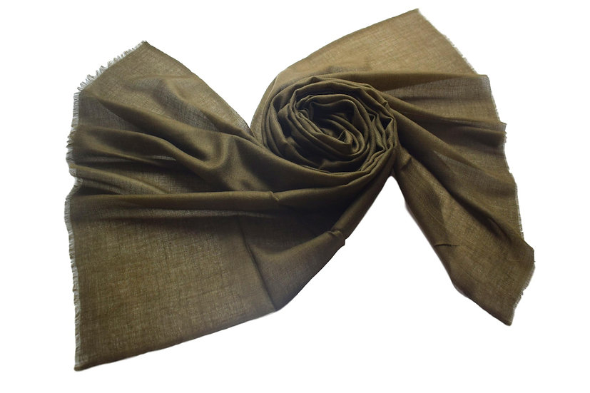 100% Kaschmir -100% Cashmere - Pashmina from the Himalayas, khaki