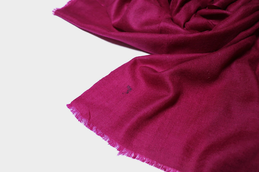 Handwoven 100% cashmere pashmina from the Himalayas - burgundy color