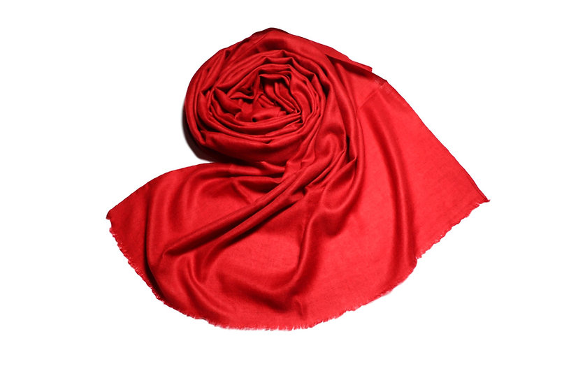 100% Cashmere Pashmina from the Himalayas - red color