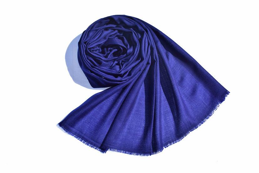 Merino - Wolle Pashmina, blau