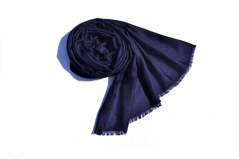 Merino Wool Pashmina, dark blue