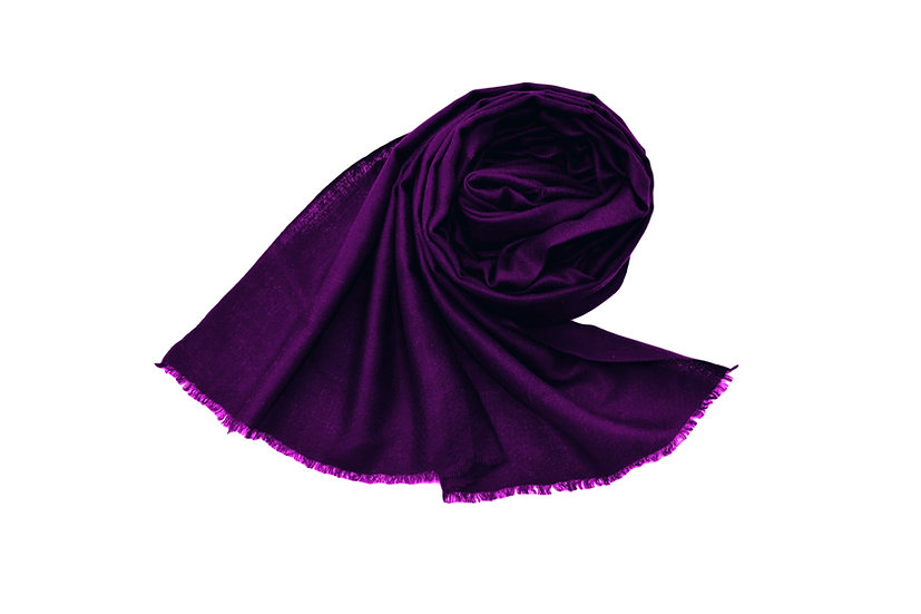 100% Cashmere - Pashmina from the Himalayas - purple