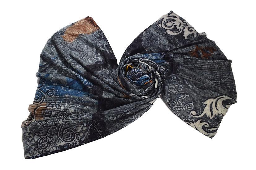 Merino Wool Pashmina Mosaic Printed