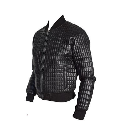 Maßgeschneiderte Lederjacke schwarz für Herren